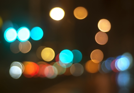Beautiful background on dark, out of Focus Lights during the Night Stock Photo - 17837535