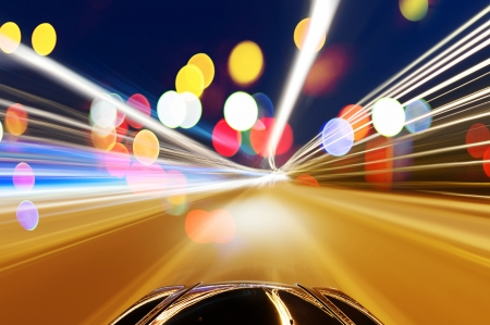 speedy: car on the road with motion blur background.