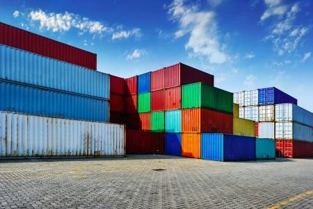 運輸: 集裝箱船 版權商用圖片