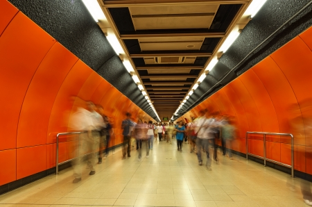 The subway tunnels,Motion Blur  photo