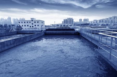 filtración: Planta de tratamiento de aguas residuales urbanas Modern