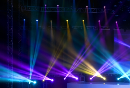Stage Spotlight with Laser rays photo