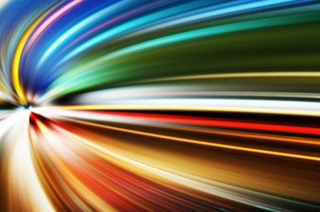 abstract night acceleration speed motion Stock Photo - 24102064