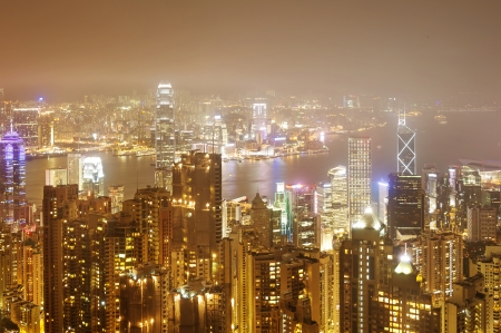hk: Hong Kong view of Victoria Harbor, Hong Kong Island business district