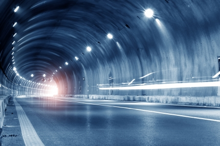 road tunnel: Abstract car in the tunnel trajectory