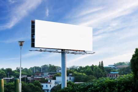 billboard posting: Sunset billboards Stock Photo