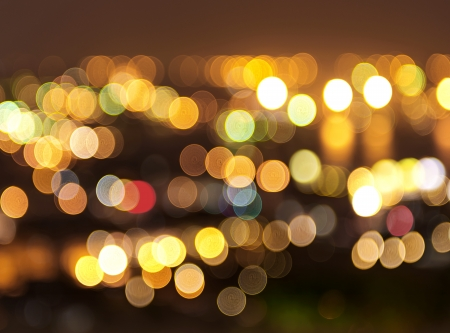 light source: Beautiful background on dark, out of Focus Lights during the Night. Stock Photo