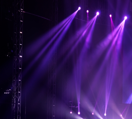 empty stage: Stage Spotlight with Laser rays