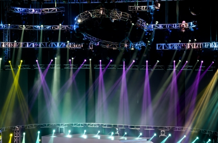 disco party: Vector Stage Spotlight with Laser rays