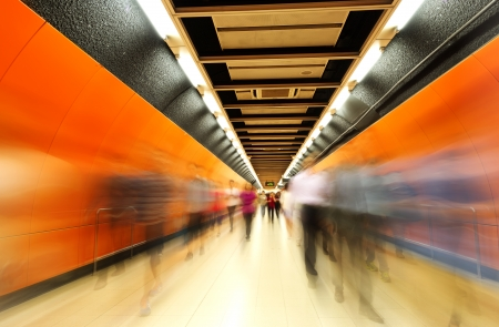 The subway tunnels,Motion Blur. photo