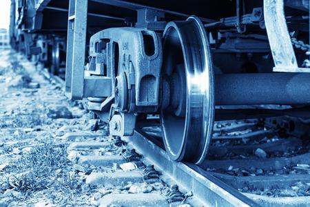 flatcar: Dusk, train.