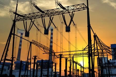 eficiencia energetica: Equipos de conmutaci�n de alta tensi�n Foto de archivo