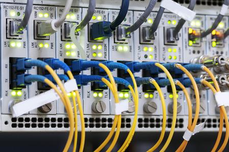 cable red: Cable de red Foto de archivo