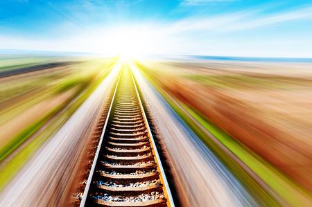 방법은 앞으로 철도 스톡 콘텐츠