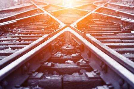 La voie ? suivre des chemins de fer Banque d'images - 26123434