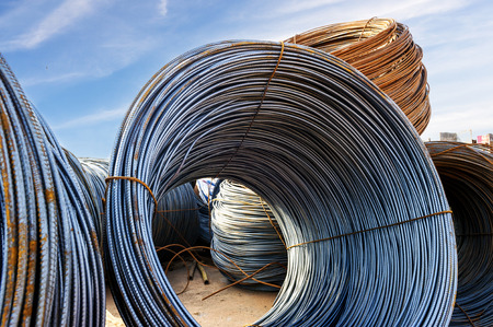 mountings: iron wires under the sky for construction