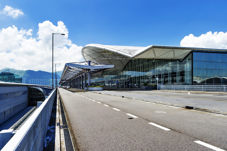 the scene of airport building in china photo