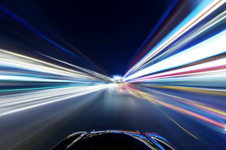 car: coche en la carretera con el fondo de desenfoque de movimiento Foto de archivo