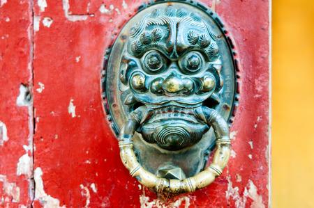 Oriental antique door knocker ancient architecture photo