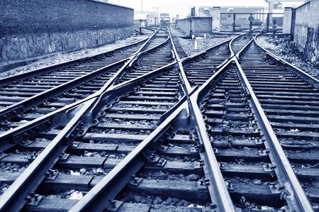 Der Weg nach vorn Eisenbahn Standard-Bild - 26901398