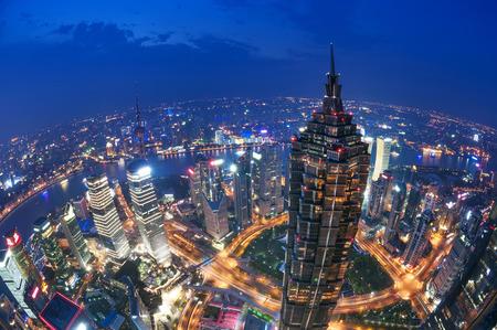 Shanghai Lujiazui Finanzzentrum neben dem Huangpu-Fluss. Standard-Bild - 26901467