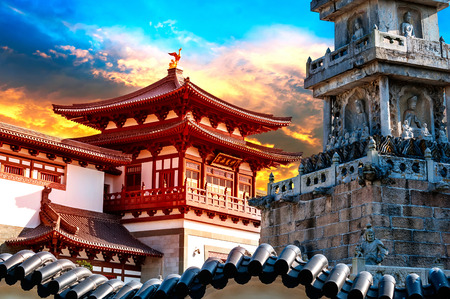 Oude Chinese architectuur Stockfoto - 27462426