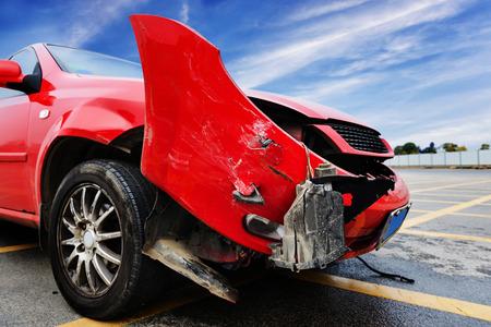 車の事故 写真素材
