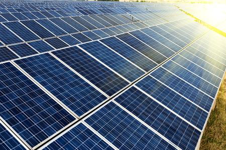 solar power: photovoltaic cells  Stock Photo