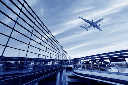 the scene of airport building in shanghai china photo