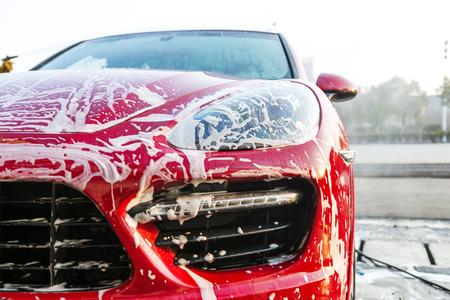 het wassen van auto Stockfoto