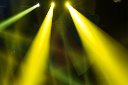 Etape Spotlight avec des rayons laser