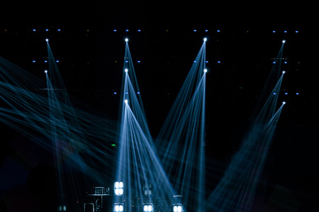 dance background: Stage Spotlight with Laser rays