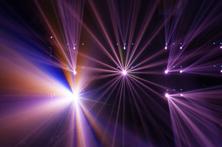 party background: Stage Spotlight with Laser rays