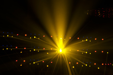 theatrical performance: Stage Spotlight with Laser rays