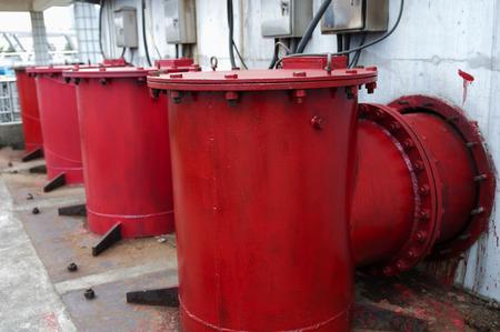 water tank: Modern urban wastewater treatment plant.