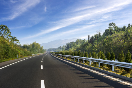 long road: Newly built highway