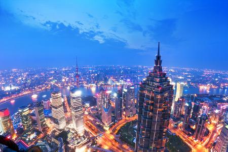 huangpu: shanghai lujiazui financial center aside the huangpu river.