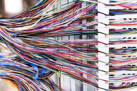 infraestructura: Cable de red Foto de archivo