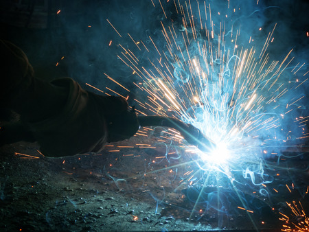 Welding with sparks Stock fotó