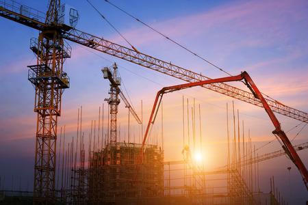 property development: construction site