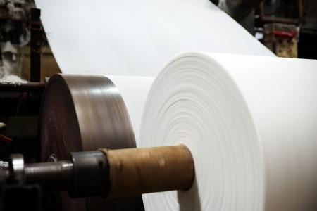 cintas: equipos de f�brica de papel Foto de archivo