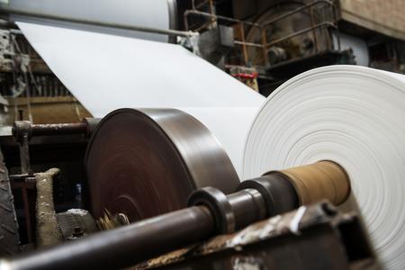 Fábrica de papel de máquina Foto de archivo - 35091555