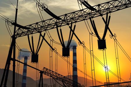 isolator insulator: High voltage switchgear equipment Stock Photo