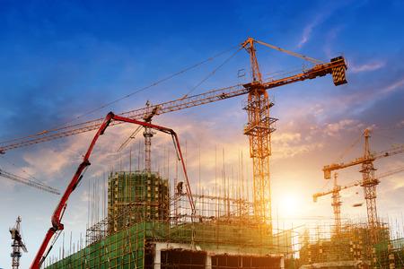 construction crane: construction site