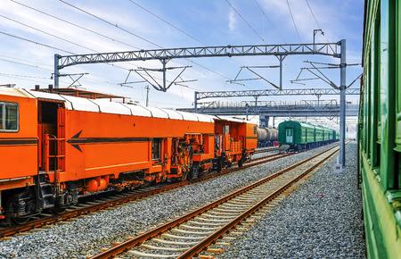 Tracks of railway
