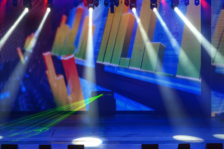 dance studio: Stage Spotlight with Laser rays