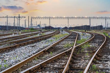 railway points: railway tracks