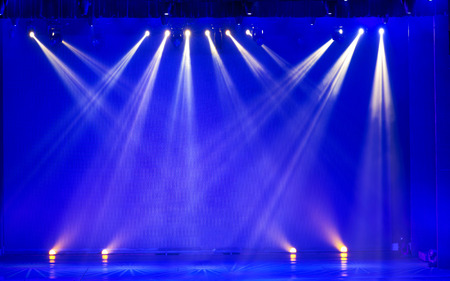 concert stage: Stage Spotlight with Laser rays
