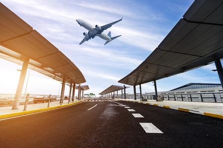 중국 상하이에서에서 구축하는 공항의 현장 스톡 콘텐츠