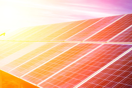 Photovoltaik-Zellen Standard-Bild